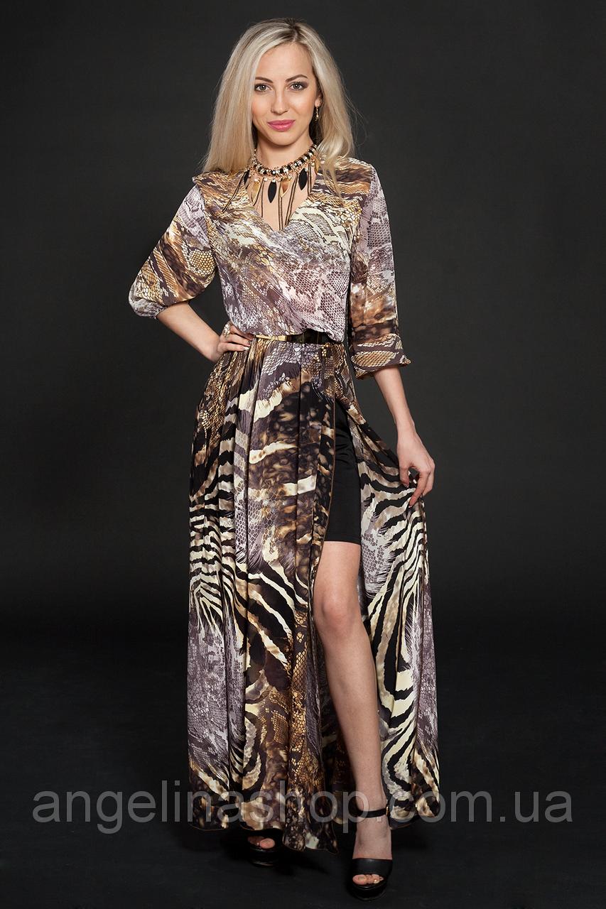 Платье шифоновое мод 432-2,размер 44-46