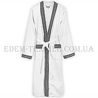 Халат велюровый мужской Virginia Secret 9075 кимоно, Белый