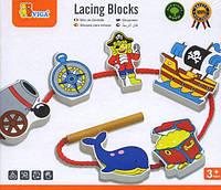 Деревянная шнуровка Пират 59852VG Viga Toys