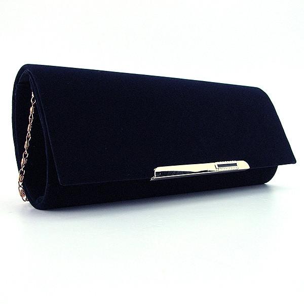 533afbc69373 Темно-синий бархатный вечерний клатч на цепочке - Интернет магазин сумок  SUMKOFF - женские и