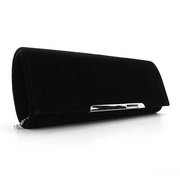 ad7d16d1a5af Вечерний клатч Rose Heart черный бархат - Интернет магазин сумок SUMKOFF -  женские и мужские сумки