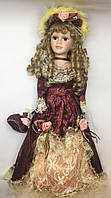 """Фарфоровая кукла в старинном платье, сувенирная, , коллекционная 45 см """" Диана """""""