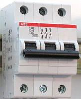 Автоматический выключатель  63A 6кА 3-х полюсный (тип C) (SH203-C63 ABB)