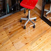 Ковер под кресло для защиты пола прозрачный 102х125см. Толщина 1,0мм