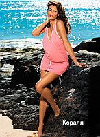 Туника-платье для пляжа Elsa от TM Marko (Польша) Коралловый цвет