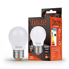 Светодиодная лампа Tecro 4W яркий свет G45 E27 4000K