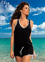 Туника-платье для пляжа Elsa от TM Marko (Польша) Черный цвет
