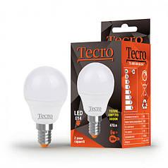 Светодиодная лампа Tecro 6W мягкий свет G45 E14 3000K