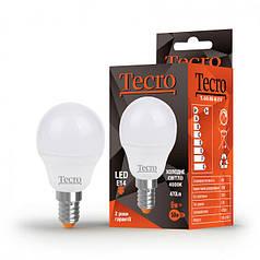 Светодиодная лампа Tecro 6W яркий свет G45 E14 4000K