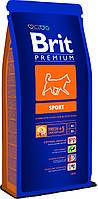 Brit Premium Sport корм для собак с повышенными физическими нагрузками, 15 кг