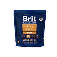 Brit Premium Sport корм для собак с повышенными физическими нагрузками, 1 кг