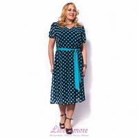 Женское платье большого размера шифоновое