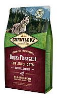 Carnilove Duck & Pheasant Hairball Controll корм для кошек, выведение шерстяных комков, 2 кг