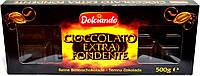 Черный шоколад Dolciando (Cioccolatto Extrafondente) 500g.