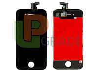 Дисплей для iPhone 4S + touchscreen, черный, копия высокого качества