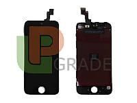Дисплей для iPhone 5S/SE + touchscreen, черный, оригинал Китай