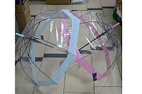 Зонт женский трость силиконовый прозрачный
