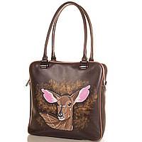 Сумка повседневная (шоппер) Gala Gurianoff Женская дизайнерская кожаная сумка с ручной росписью GALA GURIANOFF (ГАЛА ГУРЬЯНОВ) GG1257