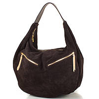 Женская дизайнерская замшевая сумка GALA GURIANOFF (ГАЛА ГУРЬЯНОВ) GG1247-10 коричневая