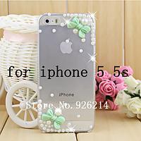 Чехол -накладка для iPhone 5\5S Пластик-Стразы Бесплатная доставка