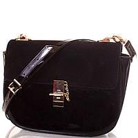 Сумка-багет Europe Mob Женская сумка из экокожи и натуральной замши EUROPE MOB (ЮЭРОП МОБ) EM0036