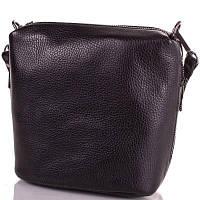 Женская кожаная сумка DESISAN SHI1484-2FL черная