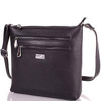 Женская кожаная сумка DESISAN SHI3130-2FL черная