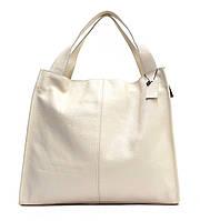 Женская кожаная сумка 12 BF Бежевая