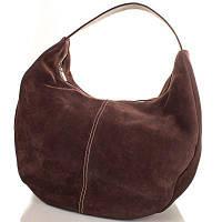 Женская дизайнерская замшевая сумка GALA GURIANOFF (ГАЛА ГУРЬЯНОВ) GG1265-10 коричневая