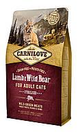Carnilove Lamb & Wild Boar корм для стерилизованных кошек, ягненок и дикий кабан, 2 кг