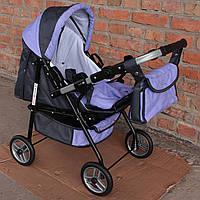 Кукольная коляска  Adbor Mini ring фіолетова
