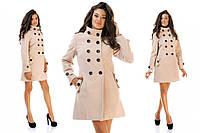 Женское кашемировое пальто Пуговицы