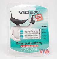Аккумуляторы Videx AAA 800 mAh (HR03, Ni-MH)