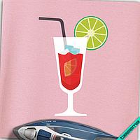 Термопереводки, латки на челочно-носочные изделия Красный коктейль [7 размеров в ассортименте]