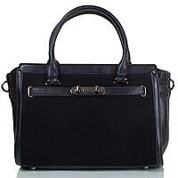 Сумка деловая ANNA&LI Женская сумка из качественного кожезаменителя и натуральной замши ANNA&LI (АННА И ЛИ) TU14430-black