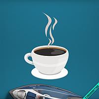 Аппликация, наклейка на ткань Кофе [7 размеров в ассортименте]