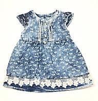 Джинсовое платье Сердечки (р.92)