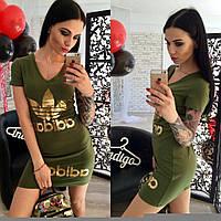 Трикотажные платье- туника adidas!!! ткань турецкая двунитка,7- цветов как на фото!!!, фото реал нн1 №528