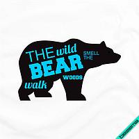 Термонаклейки для бизнеса на челочно-носочные изделия The wild bear [7 размеров в ассортименте]