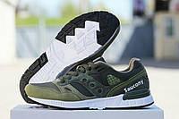 Мужские зеленые болотные кроссовки Saucony G.R.I.D. Приятный очень красивый цвет. Новинка