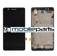 Оригинальный дисплей (модуль) + сенсор (тачскрин) для Lenovo S660 (с рамкой) (черный)