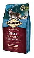 Carnilove Salmon Sensitive & Long Hair корм для кошек с чувствительным пищеварением, с лососем, 2 кг