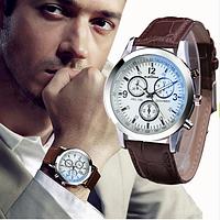 Великолепные мужские часы с коричневым ремешком