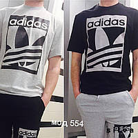 Мужские футболки adidas,  цвет серый и чёрный, ткань турецкая двунитка! суер качество нн1 №554