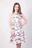 Легкое летние платье с цветочным принтом  2034