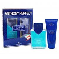 Набор мужской:туалетная вода 100ml.+гель для душа 100ml.  Anthony Perfect Pure Instruction Lotus Valley