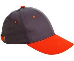 Бейсболка хлопок Červa Desman серая с оранжевым, фото 2