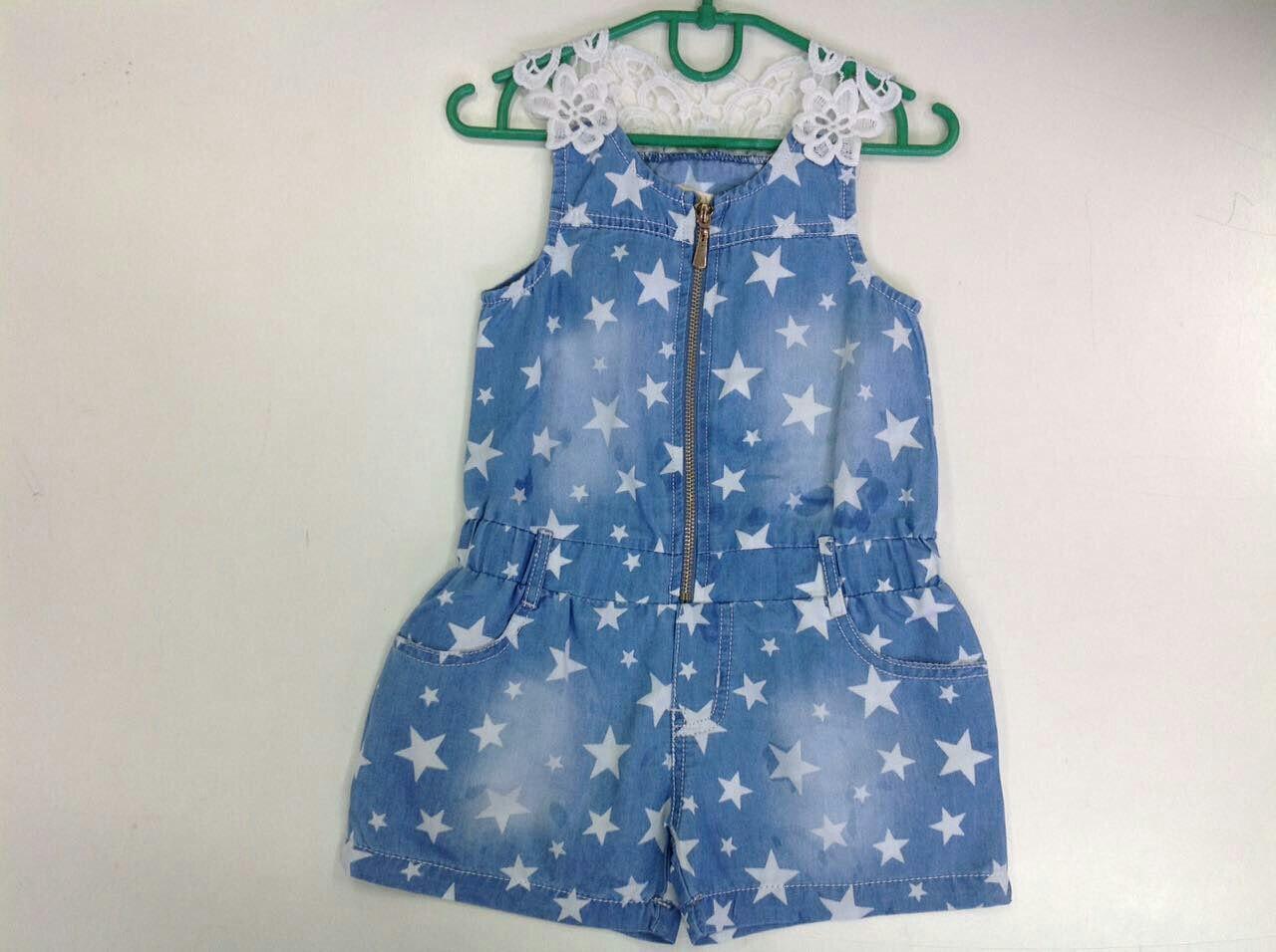 Летний комбинезон-шорты для девочек