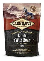 Carnilove Lamb & Wild Boar Adult корм для собак, с ягненком и диким кабаном, 1.5 кг