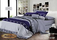 """Полуторный комплект постельного белья """"Джентельмен"""". Стильное постельное бельё из натуральной ткани."""